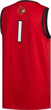 adidas Men's Louisville Cardinals #1 Cardinal Red Creator 365 Replica Basketball Jersey product image