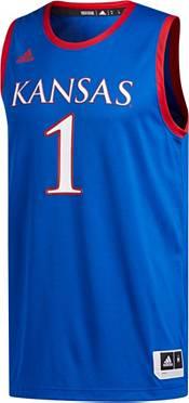 adidas Men's Kansas Jayhawks #1 Blue Creator 365 Replica Basketball Jersey product image