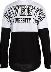 ZooZatz Women's Iowa Hawkeyes Clearblock Long Sleeve Black T-Shirt product image