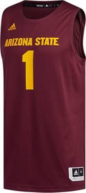 adidas Men's Arizona State Sun Devils #1 Maroon Creator 365 Replica Basketball Jersey product image