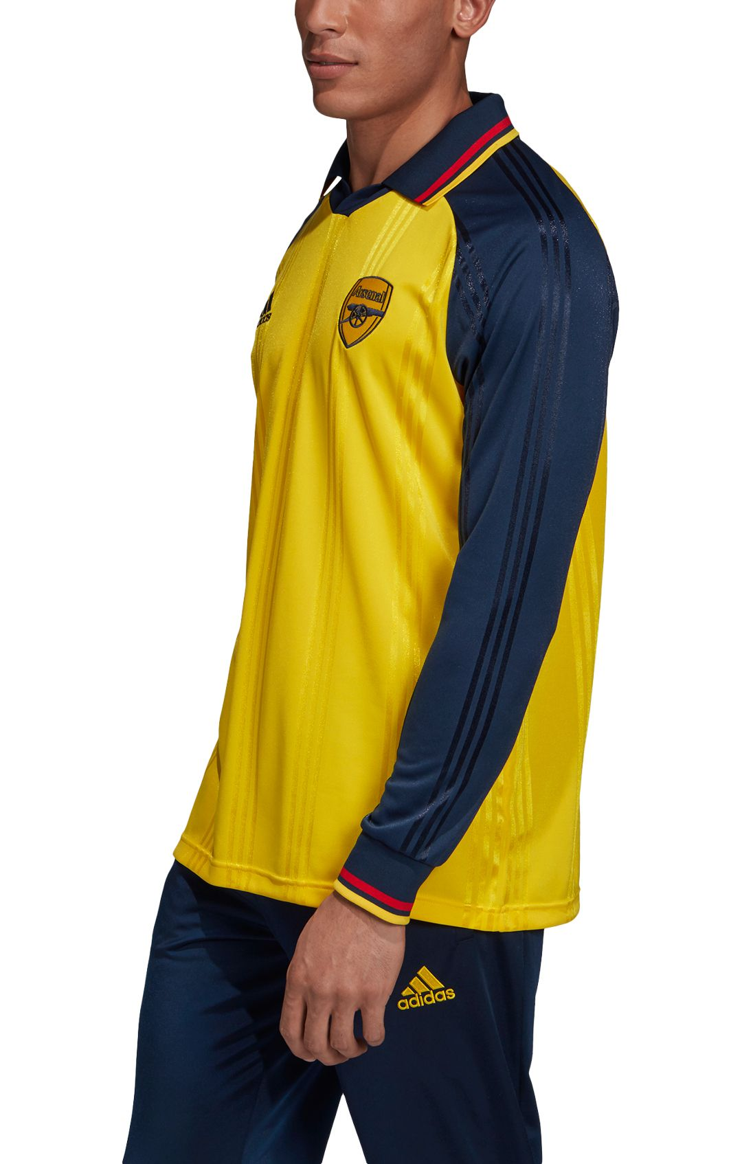 204c04e3c4 adidas Men's Arsenal Icons Yellow Long Sleeve Shirt