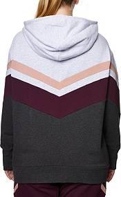 Betsey Johnson Women's Plus Size Chevron Colorblock Hoodie product image
