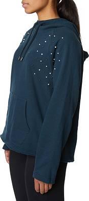 Betsey Johnson Women's Pearl Stud Bell Sleeve Hoodie product image