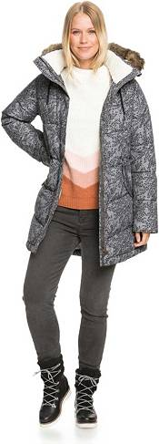 Roxy Women's Ellie Printed Waterproof Longline Puffer Jacket product image