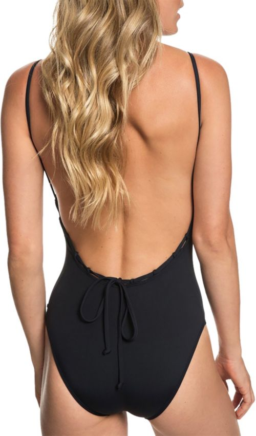 1db63741c4aae Roxy Women's Beach Classics V-Neck One Piece Swimsuit | DICK'S ...