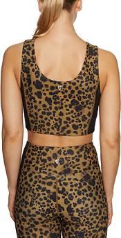 Betsey Johnson Women's Leopard Striped Longline Sports Bra product image