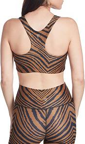 Betsey Johnson Women's Tiger Print Racerback Sports Bra product image