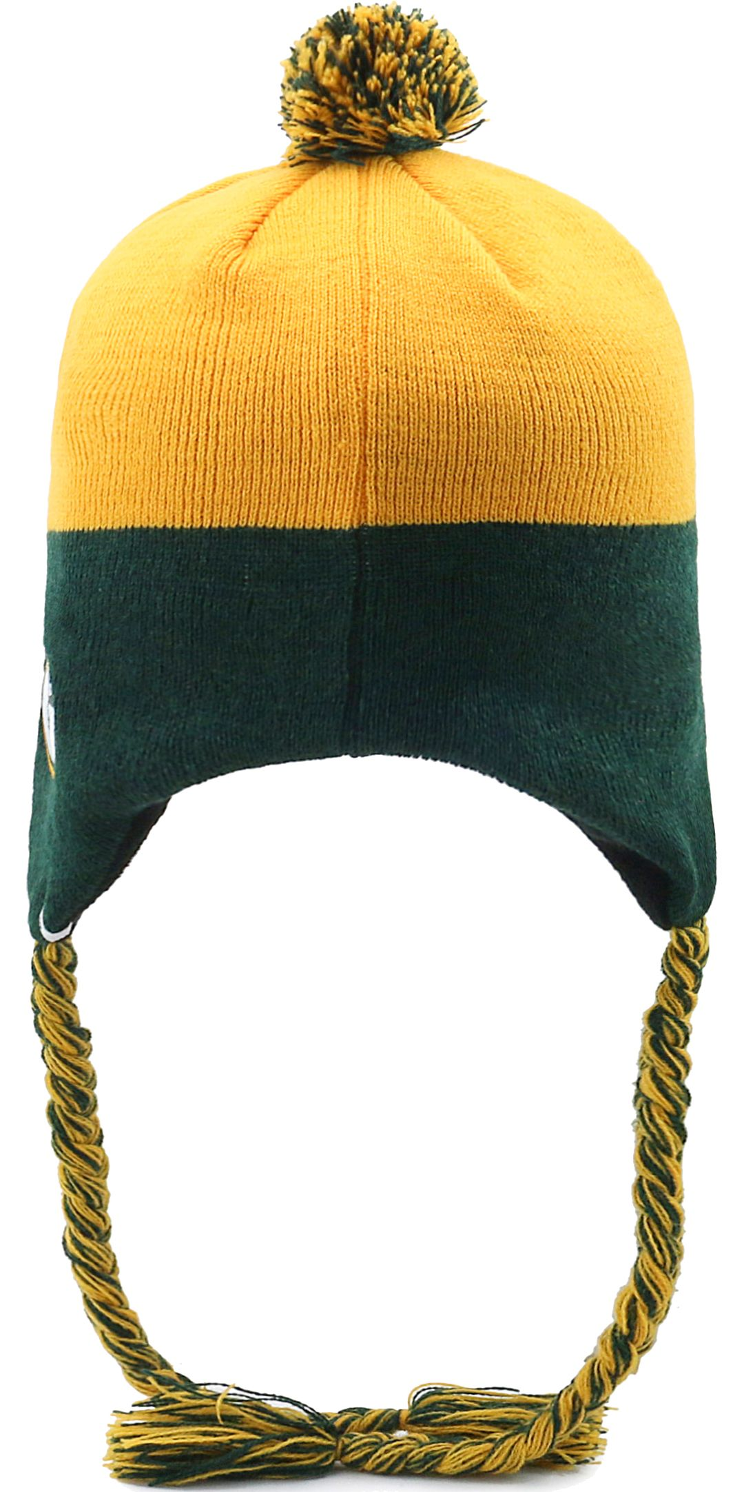 0e0c99b0 '47 Youth Green Bay Packers Hammerhead Gold Knit Trapper