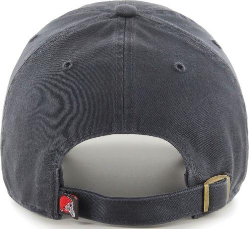 d6345009b6c83 47 Men s Cleveland Browns Clean Up Adjustable Charcoal Hat