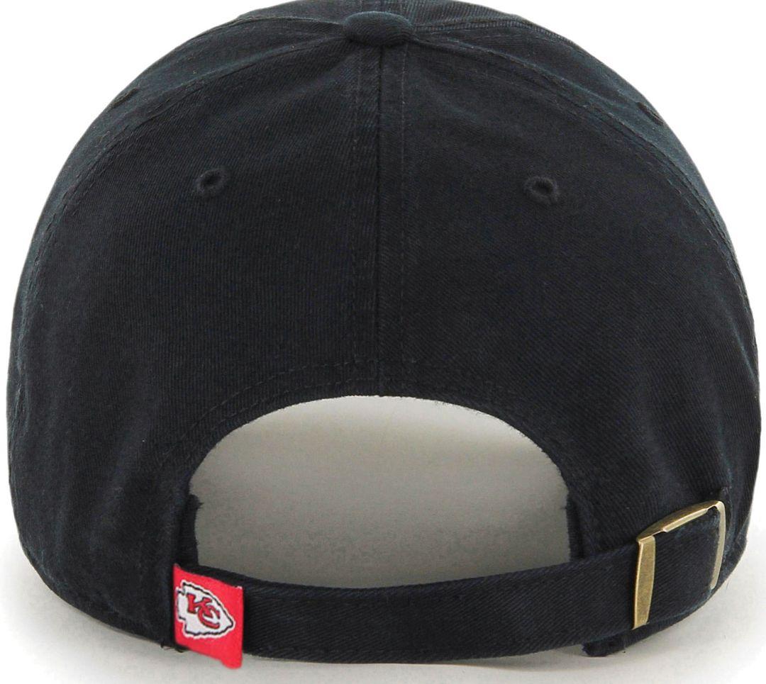 b516e7f9 '47 Men's Kansas City Chiefs Clean Up Black Adjustable Hat