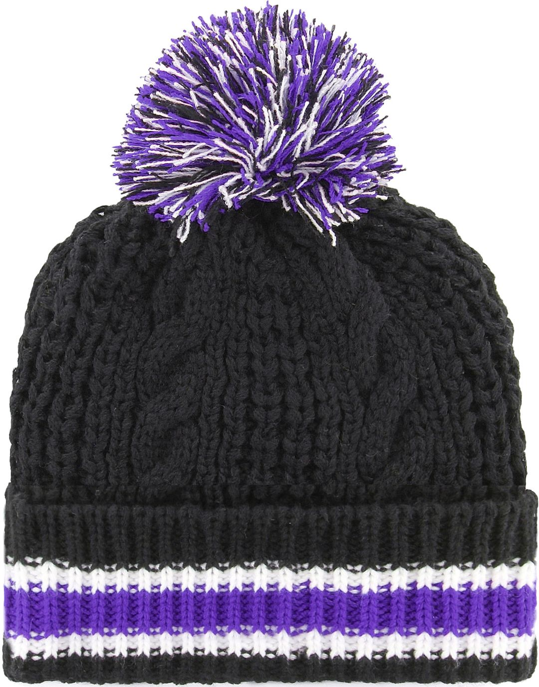 78f2772d31ec3  47 Women s Baltimore Ravens Sorority Black Cuffed Pom Knit 2