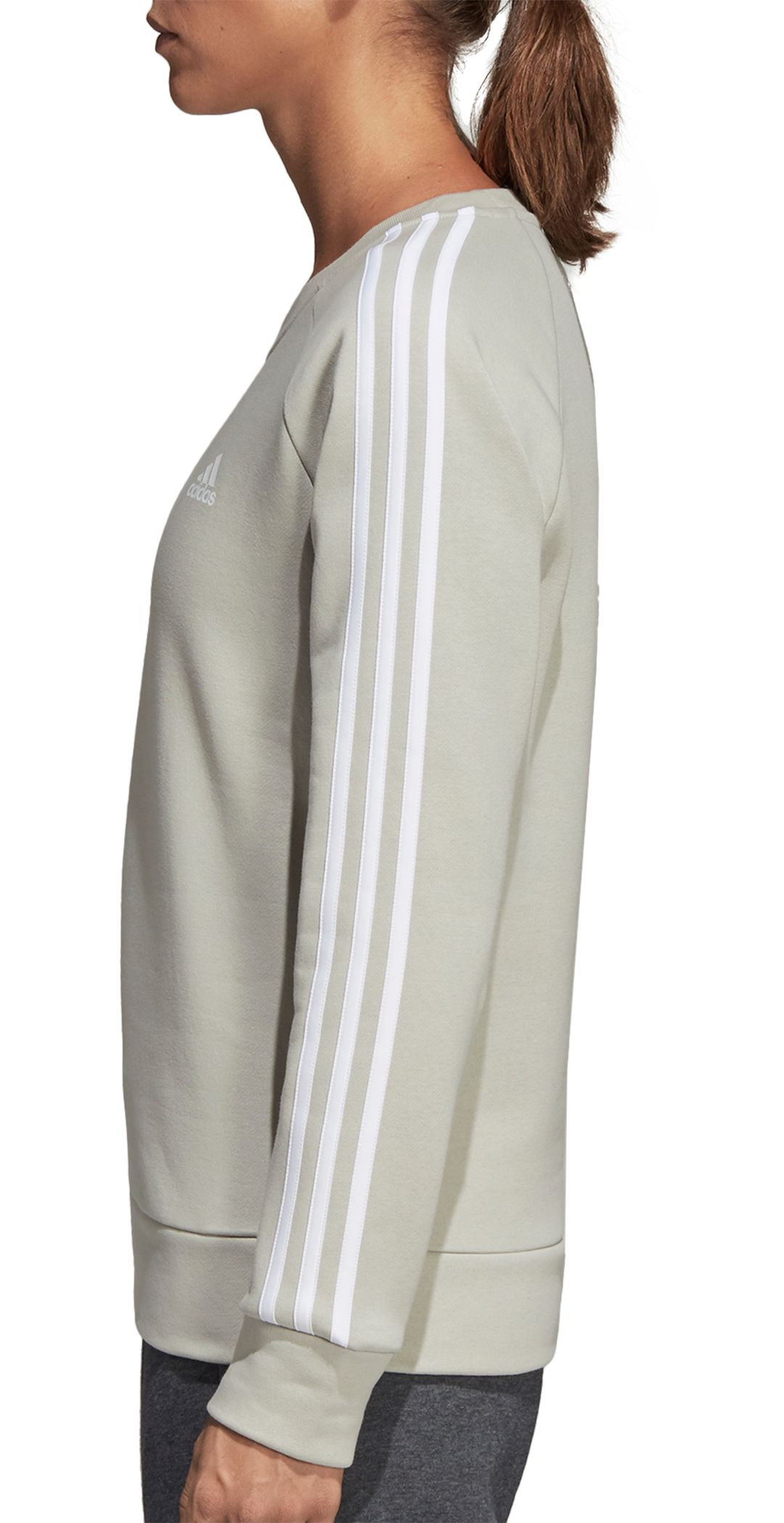 f9fd20b74d6a adidas Women's Essentials 3-Stripes Crewneck Sweatshirt. noImageFound.  Previous. 1. 2. 3