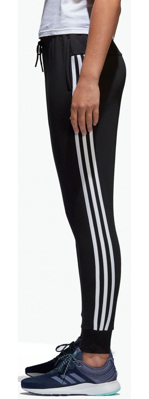 812fa771b53 adidas Women s Essentials Cotton Fleece 3-Stripes Jogger Pants