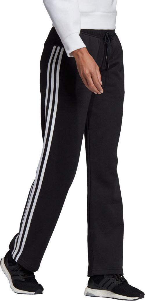 30759cd57bdb adidas Women s Cotton Fleece 3-Stripes Open Hem Pants