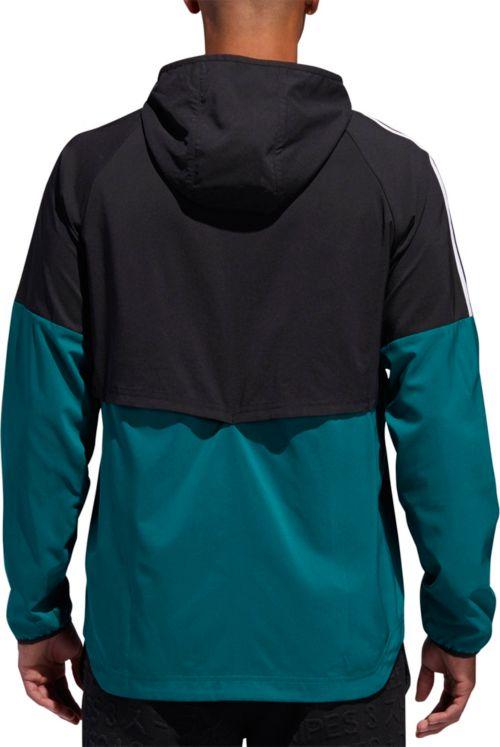 d569c54e0e74 adidas Men s Sport Id 3-Stripe Windbreaker Jacket