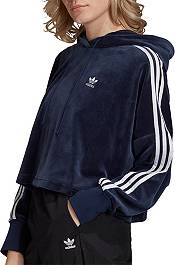 adidas Originals Women's Velour Cropped Hoodie product image