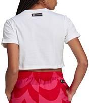adidas Originals Women's Marimekko Cropped T-Shirt with Trefoil Print product image