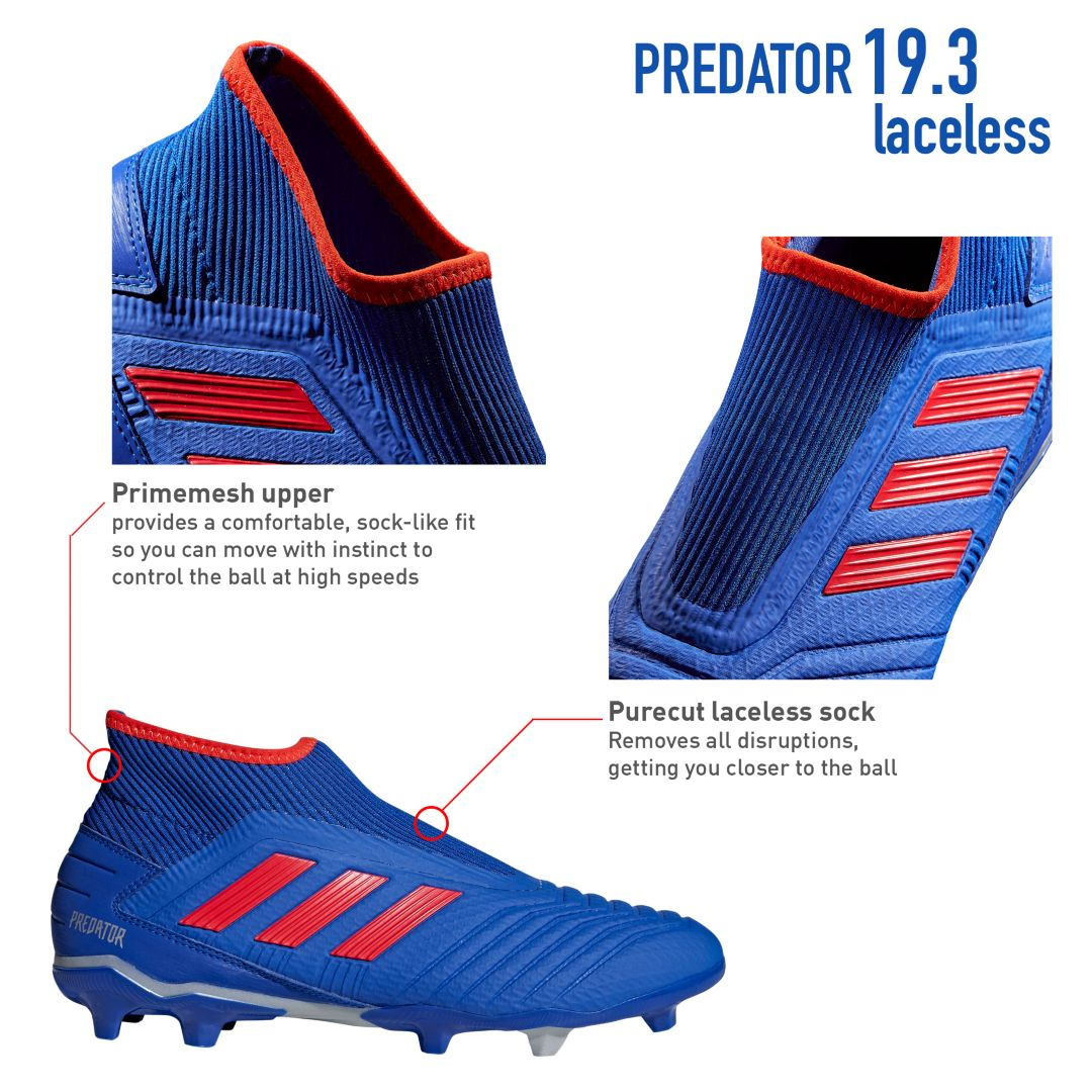 adidas Men's Predator 19.3 Laceless FG Soccer Cleats