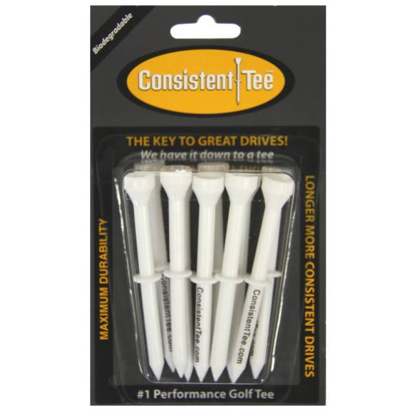 """Consistent-Tee 3.25"""" White Golf Tees - 10 Pack product image"""