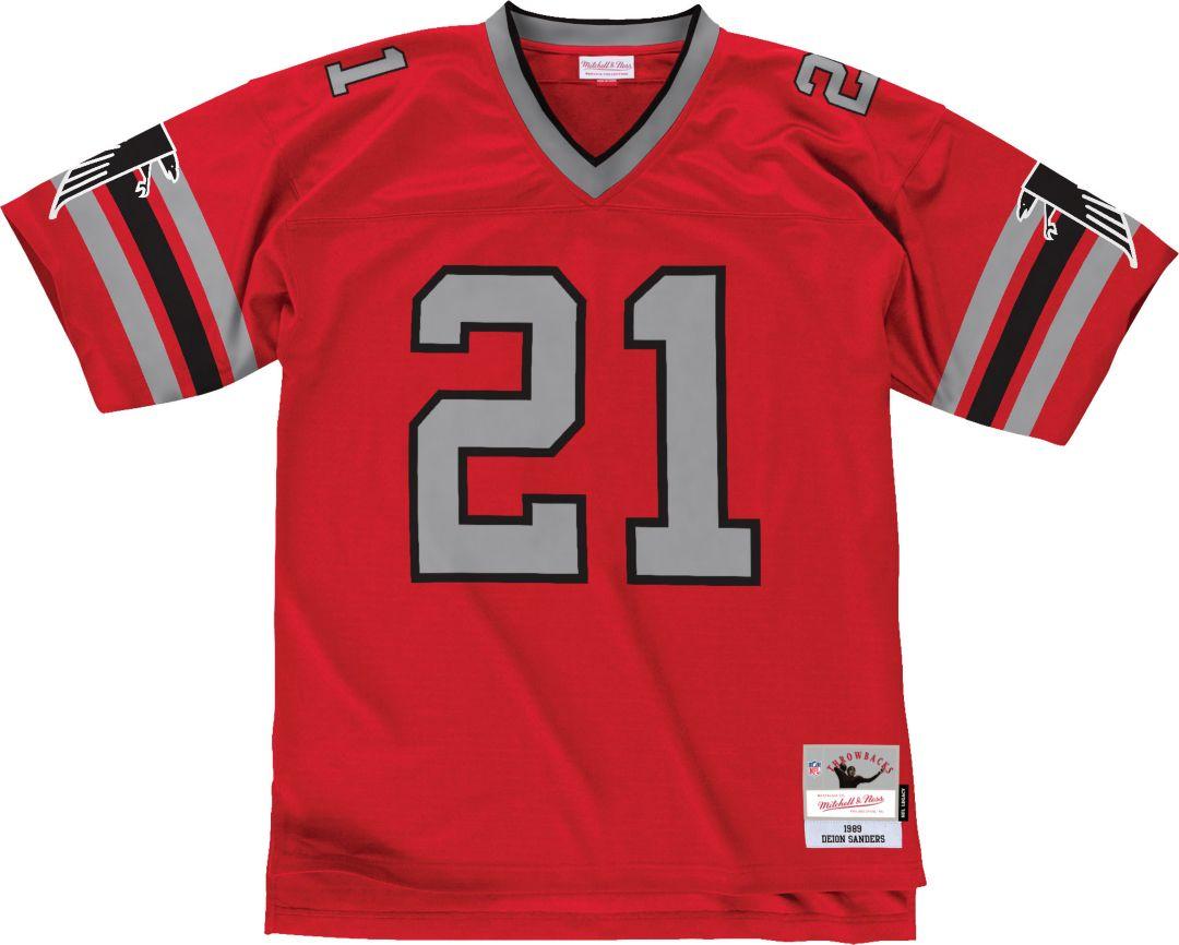 half off 03e4a d6fa7 Mitchell & Ness Men's 1989 Home Game Jersey Atlanta Falcons Deion Sanders  #21