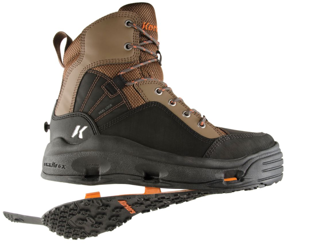 Korkers Buckskin Wading Boots w/ Felt and Kling-On Soles