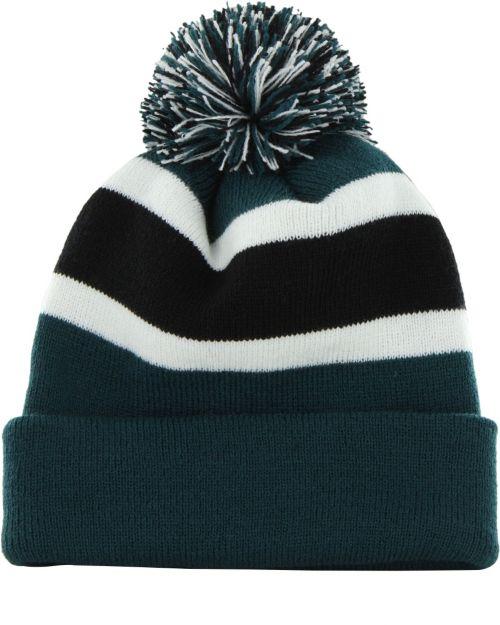 47 Men s Philadelphia Eagles Breakaway Cuffed Green Knit Hat ... f4e234d22