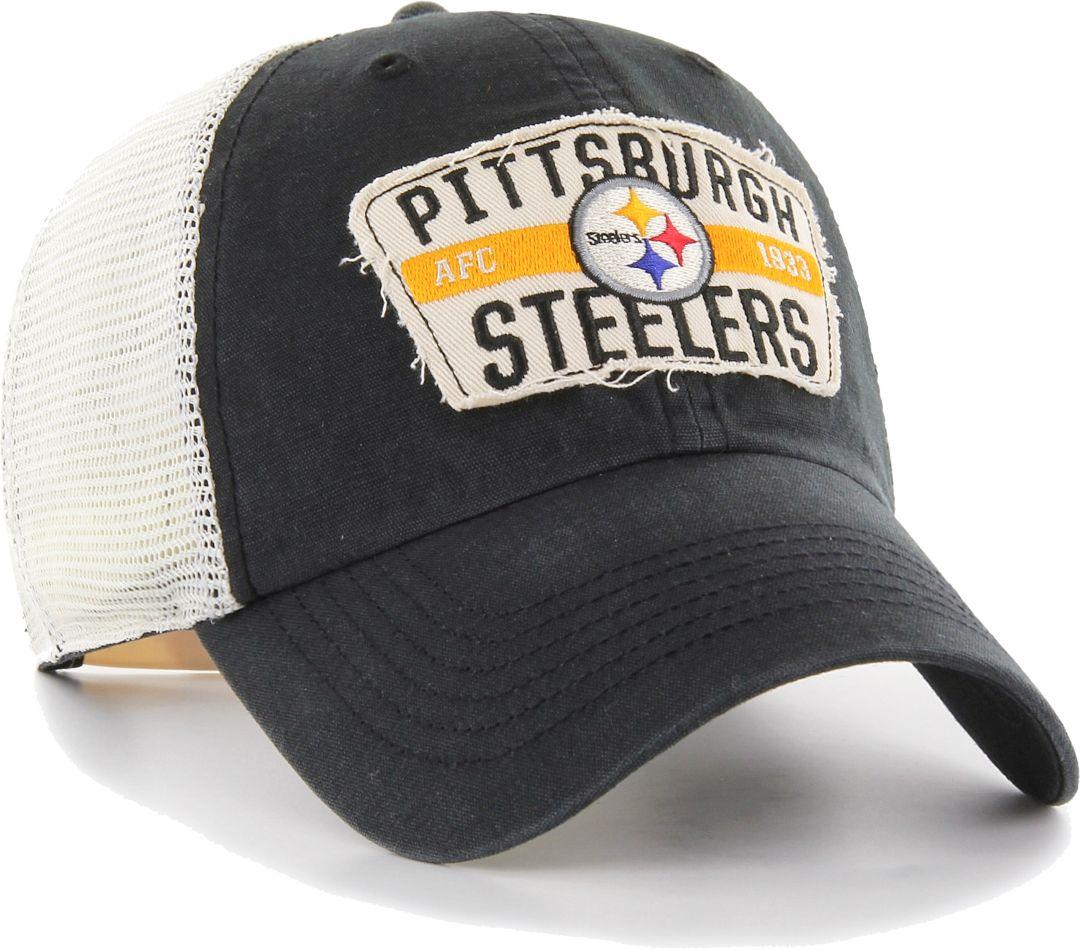 78df1274 '47 Men's Pittsburgh Steelers Crawford Clean Up Adjustable Black Hat