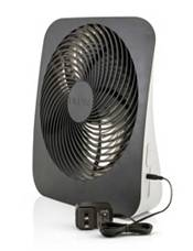 """Treva 10"""" Battery Powered Portable Fin Fan with Adapter product image"""