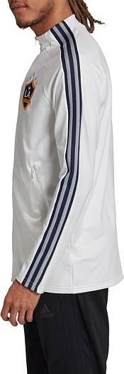 adidas Men's Los Angeles Galaxy Anthem White Full-Zip Jacket product image