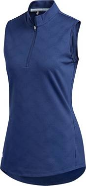 adidas Women's Jacquard Sleeveless Golf Polo product image