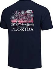 Image One Men's Florida Gators Navy Americana Fireworks T-Shirt product image