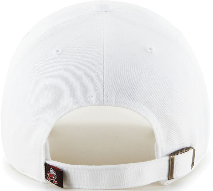 new styles 3e5ac 11df5  47 Men s Cleveland Browns Legacy Clean Up Adjustable White Hat 2