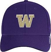 adidas Men's Washington Huskies Purple Coach Stretch Flex Fitted Hat product image