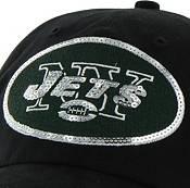 '47 Women's New York Jets Sparkle Logo Black Adjustable Hat product image