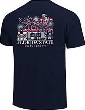 Image One Men's Florida State Seminoles Navy Americana Fireworks T-Shirt product image