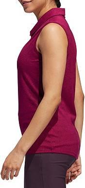 adidas Women's Jacquard Sleeveless Golf Polo product image