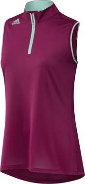 adidas Women's Engineered Gradient Quarter-Zip Sleeveless Golf Polo product image