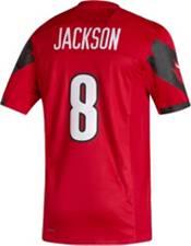 adidas Men's Lamar Jackson Louisville Cardinals #8 Cardinal Red Replica Football Jersey product image