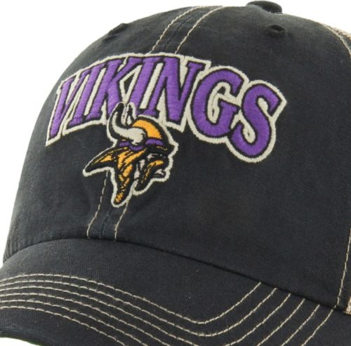 68ca050a87bb1 47 Men s Minnesota Vikings Vintage Tuscaloosa Black Adjustable Hat ...