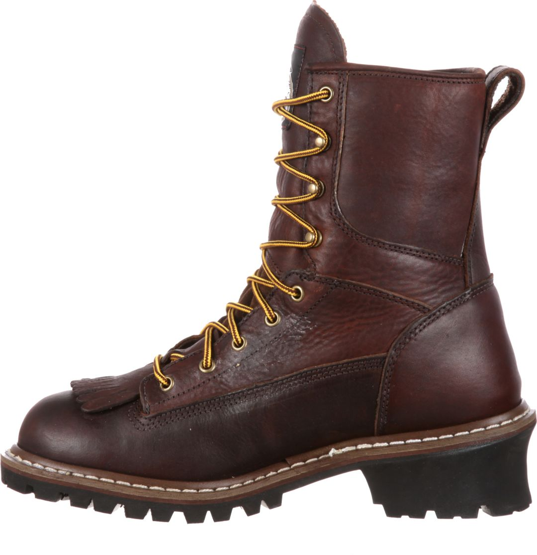 d0244e21e9e Georgia Boot Men's Logger Waterproof 8'' Steel Toe Work Boots