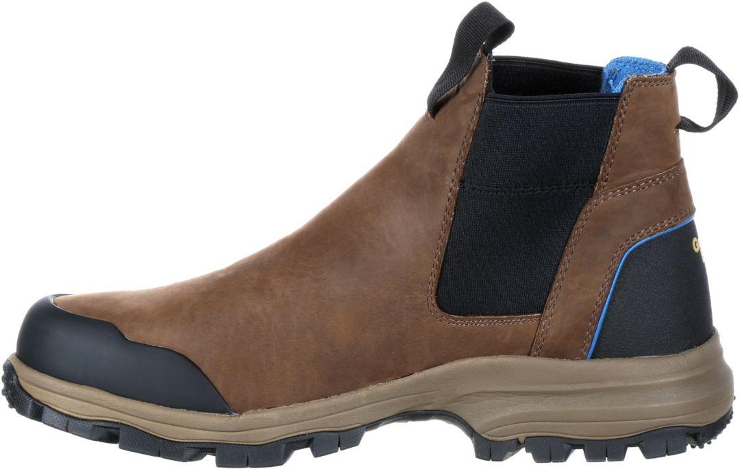 3cb29237b65 Georgia Boot Men's Blue Collar Chelsea Romeo Waterproof Work Boots