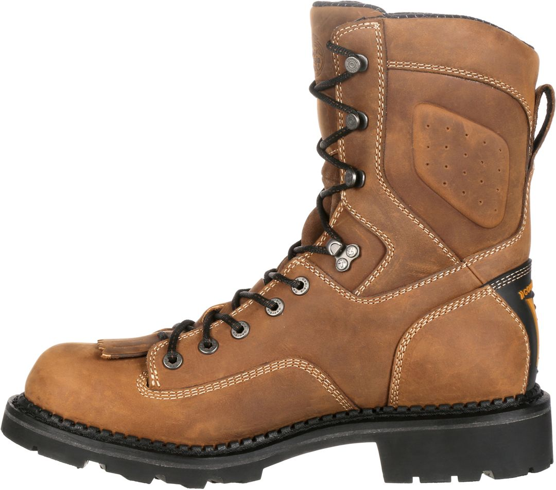 a2a6c807fc1 Georgia Boot Men's ComfortCore Low Heel Logger EH Waterproof Work Boots