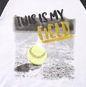 adidas Girls' My Field ¾ Sleeve Softball Shirt product image