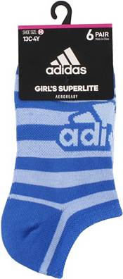 adidas Girls' Superlite No Show Socks - 6 Pack product image