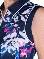 Jofit Women's Floral Sleeveless Polo Golf Dress product image