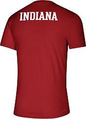 adidas Men's Indiana Hoosiers Crimson Locker Room Helmet Football T-Shirt product image