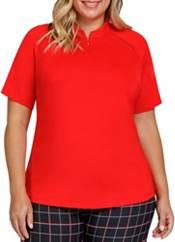 Tail Activewear Women's Short Sleeve Raglan Chest Insert Golf Top product image