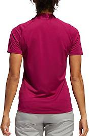 adidas Women's Colorblocked Heathered Short Sleeve Golf Polo product image
