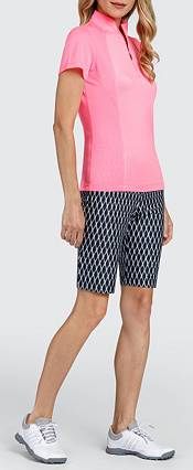 Tail Women's Short Sleeve V-Mock Neck Golf Polo product image
