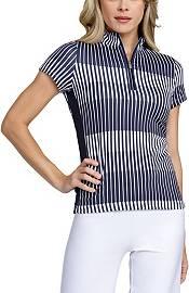 Tail Women's Mock Neck Wrap Back Short Sleeve Golf Polo product image
